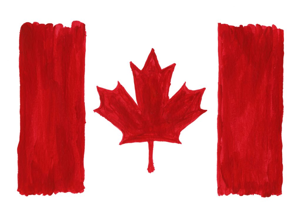 Canada Flag Painting
