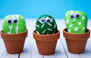 Cactus Pet Rocks Craft