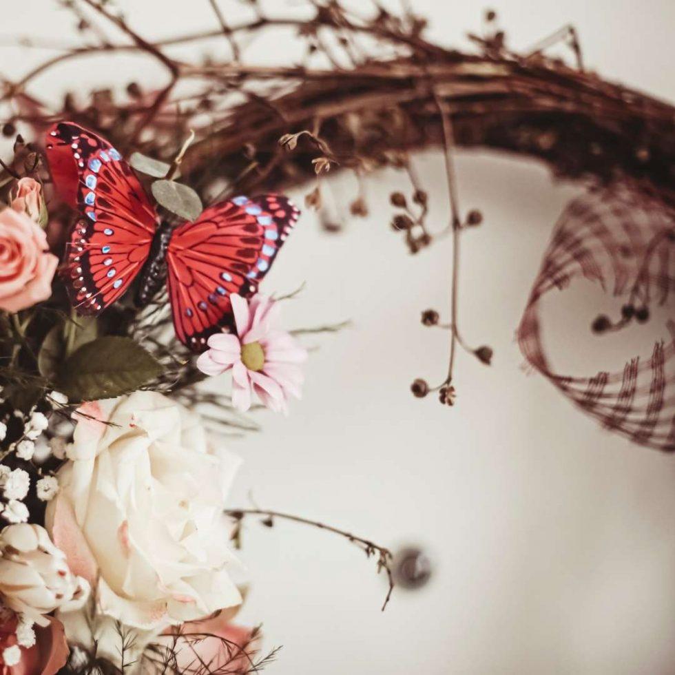 butterfly wreath craft